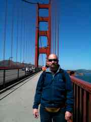 David on the Golden Gate Bridge, September 2010