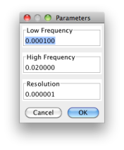 DCDFT frequency parameters