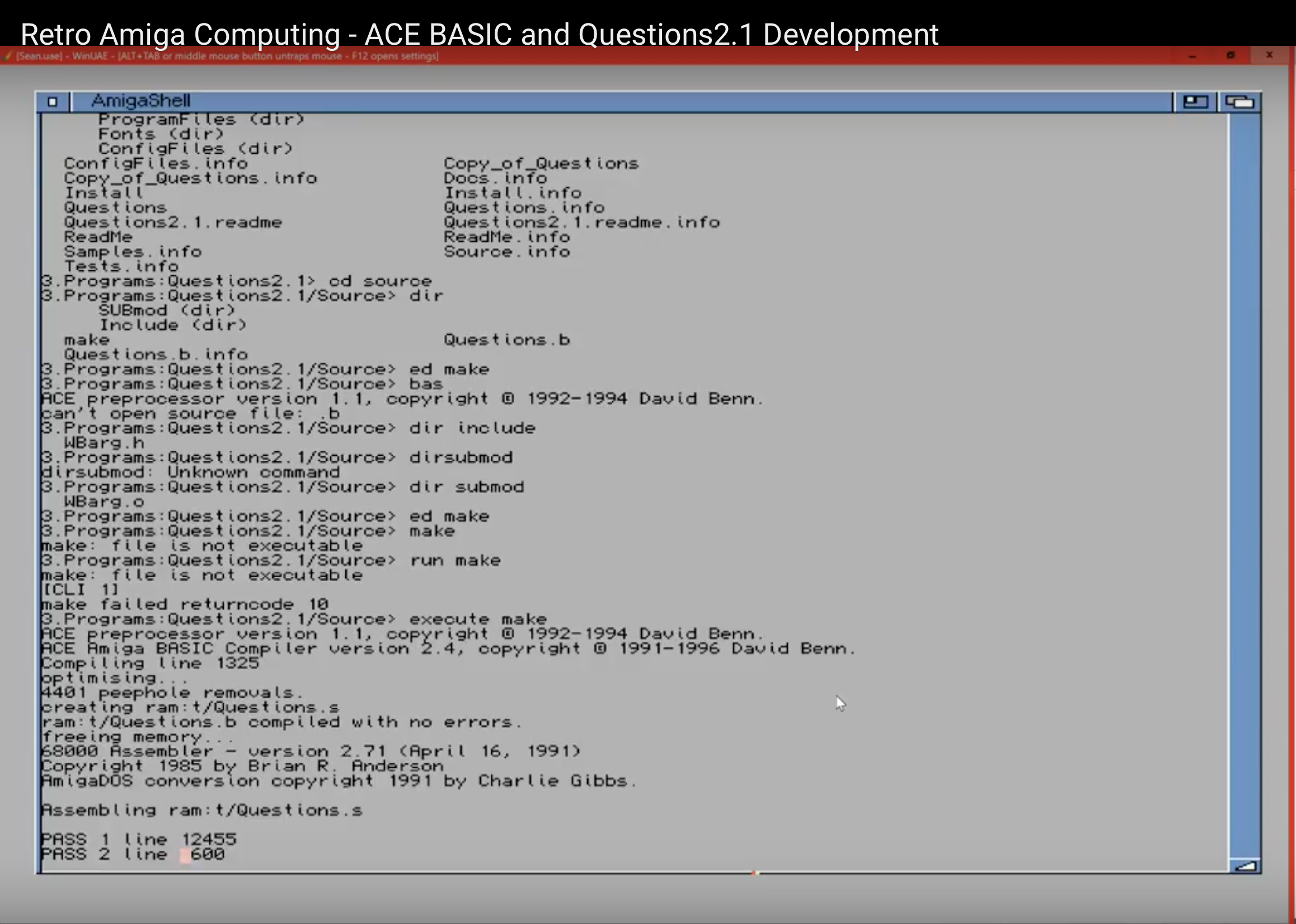 Retro Computing with ACE